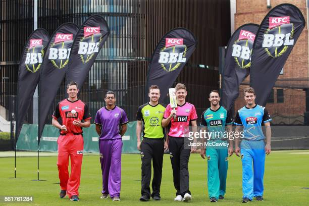 Chris Tremain of the Melbourne Renegades Clive Rose of the Hobart Hurricanes Ryan Gibson of the Sydney Thunder Daniel Hughes of the Sydney Sixers...
