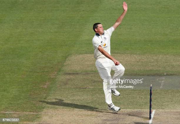 Chris Tremain of Victoria bowls during day four of the Sheffield Shield match between New South Wales and Victoria at North Sydney Oval on November...