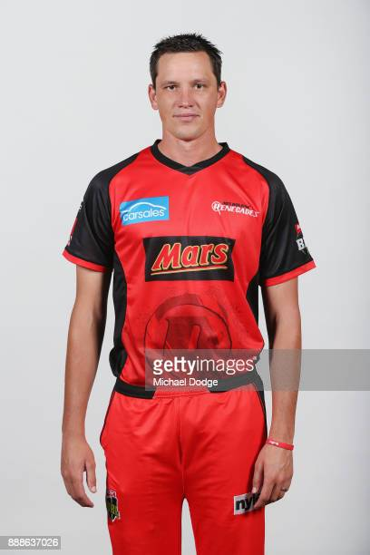Chris Tremain poses during the Melbourne Renegades BBL headshots session on December 9 2017 in Melbourne Australia