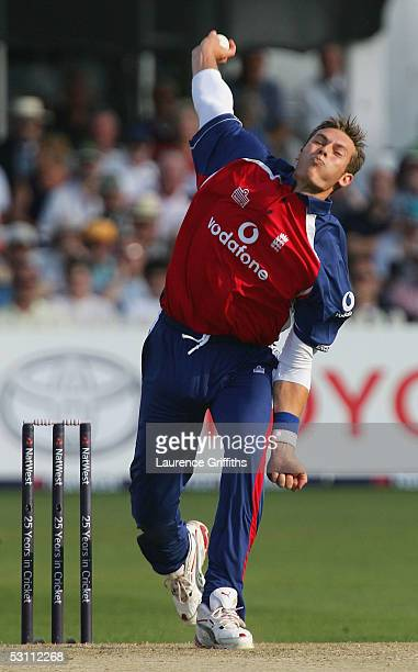 Chris Tremlett of England bowls during the NatWest Series One Day International match between England and Bangladesh on June 21, 2005 at Trent Bridge...