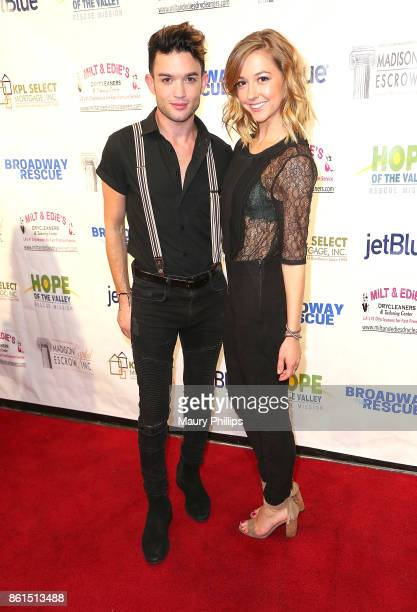 Chris Trousdale and Gigi Pogosyan attend Broadway to The Rescue a benefit for the homeless at The Montalban Theater on October 14 2017 in Los Angeles...