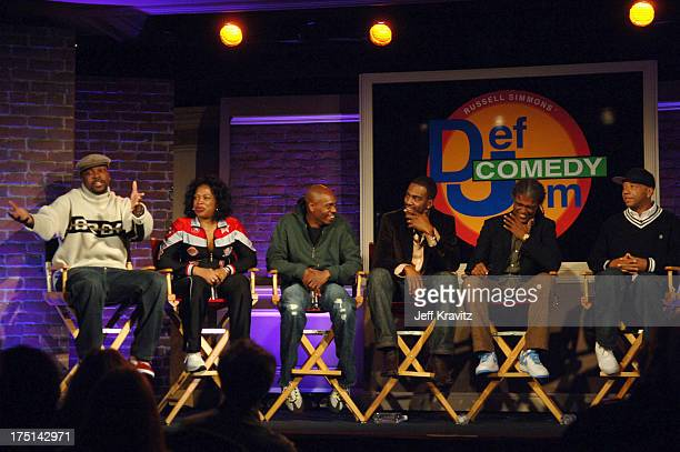 Chris Tucker Adele Givens Dave Chappelle Bill Bellamy Elvis Mitchell and Russell Simmons