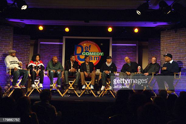 Chris Tucker Adele Givens Dave Chappelle Bill Bellamy Elvis Mitchell Russell Simmons Stan Lathan Sandy Wernick and Bob Sumner