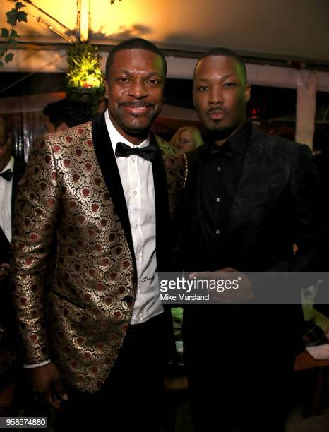 Chris Tucker and Corey Hawkin attendsthe BlacKkKlansman After Party during the 71st annual Cannes Film Festival at on May 14 2018 in Cannes France