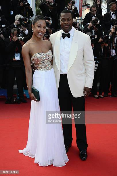 "Chris Tucker and guest attend the ""Cleopatra"" Premiere during the 66th Annual Cannes Film Festival at Grand Theatre Lumiere on May 21, 2013 in..."