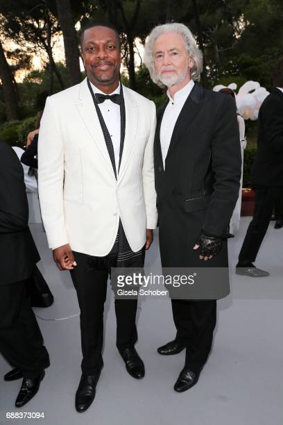 Chris Tucker and Hermann Buehlbecker attend the amfAR Gala Cannes 2017 at Hotel du CapEdenRoc on May 25 2017 in Cap d'Antibes France