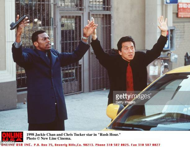 Chris Tucker and Jackie Chan star in the movie Rush Hour