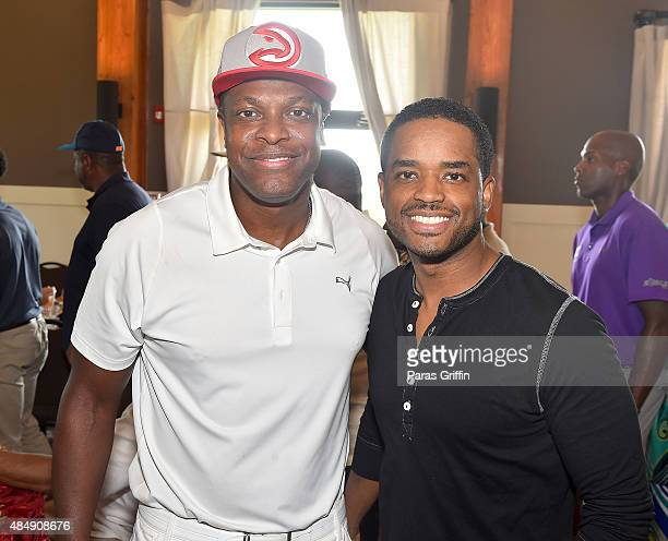 Chris Tucker and Larenz Tate attend 2nd Annual Chris Tucker Foundation celebrity golf tournament awards dinner at Eagle's Brooke Country Club on...