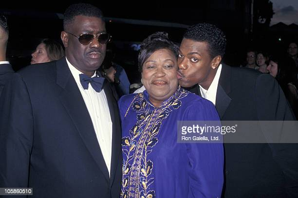 Chris Tucker and parents during 'Money Talks' Hollywood Premiere at Cinerama Dome in Hollywood California United States