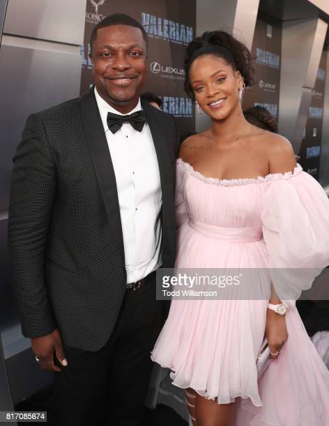 Chris Tucker and Rihanna attend the premiere of EuropaCorp And STX Entertainment's 'Valerian And The City Of A Thousand Planets' at TCL Chinese...