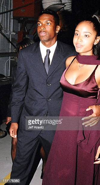 Chris Tucker and wife during 1998 MTV Movie Awards in Los Angeles California United States
