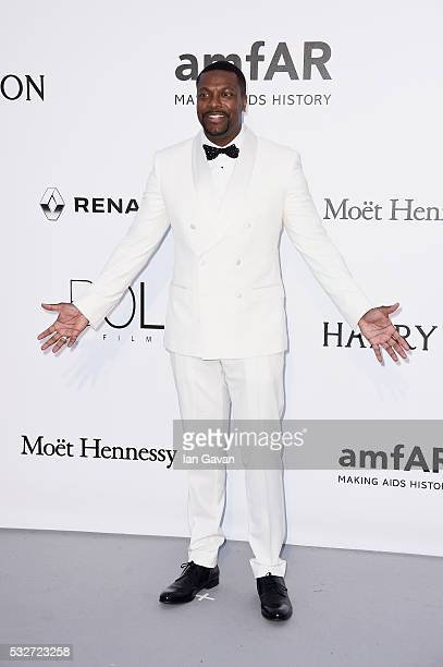 Chris Tucker arrives at amfAR's 23rd Cinema Against AIDS Gala at Hotel du CapEdenRoc on May 19 2016 in Cap d'Antibes France
