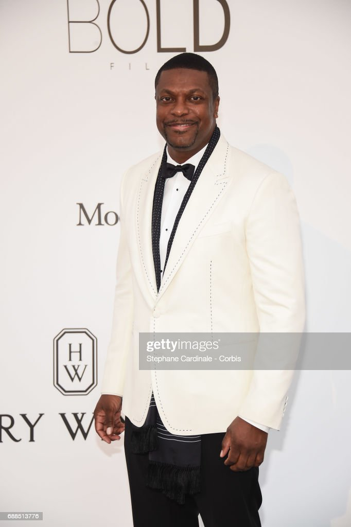 Chris Tucker arrives at the amfAR Gala Cannes 2017 at Hotel du Cap-Eden-Roc on May 25, 2017 in Cap d'Antibes, France.