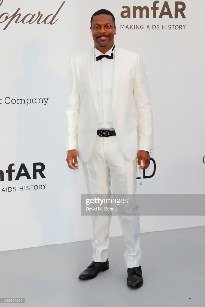 Chris Tucker arrives at the amfAR Gala Cannes 2018 at Hotel du Cap-Eden-Roc on May 17, 2018 in Cap d'Antibes, France.