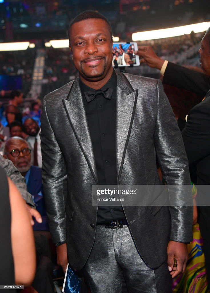 Chris Tucker attends the 2017 Andrew Young International Leadership awards and 85th Birthday tribute at Philips Arena on June 3, 2017 in Atlanta, Georgia.