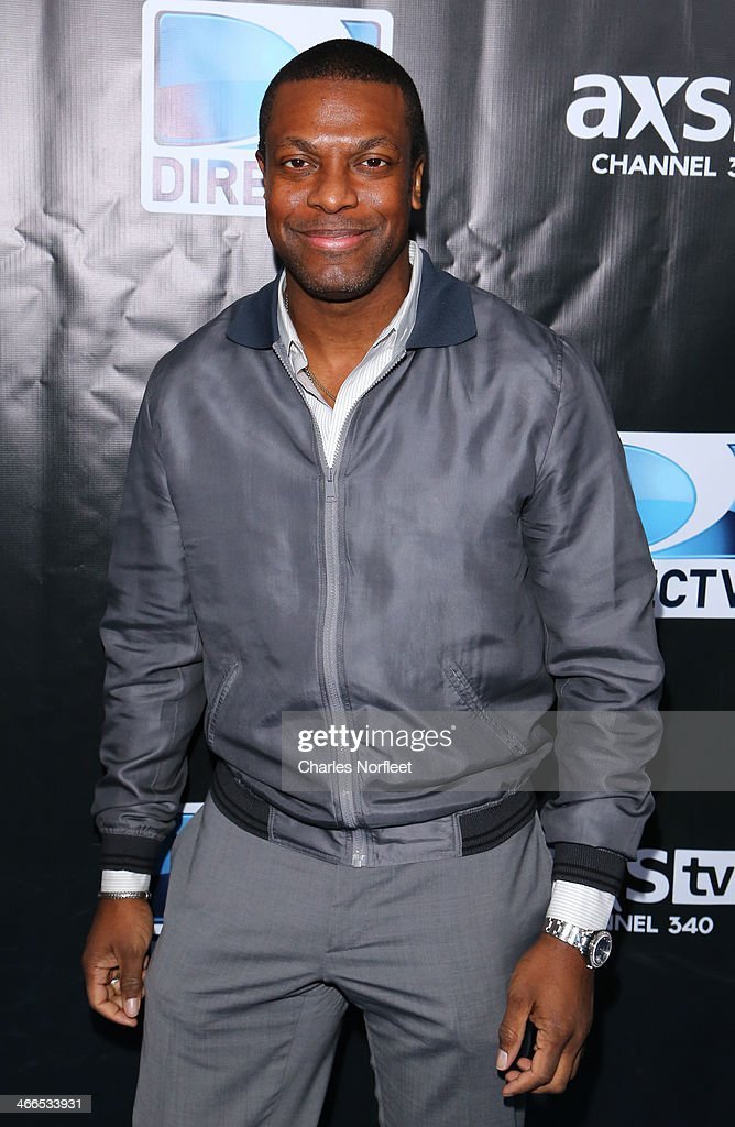 Chris Tucker attends the DirecTV Super Saturday Night at Pier 40 on February 1, 2014 in New York City.