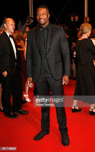 Chris Tucker attends the Hands Of Stone premiere during the 69th annual Cannes Film Festival at the Palais des Festivals on May 16 2016 in Cannes...