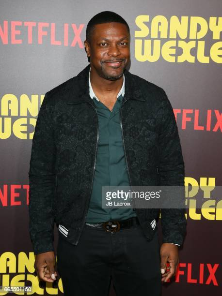 Chris Tucker attends the premiere of Netflix's 'Sandy Wexler' on April 6 2017 in Hollywood California