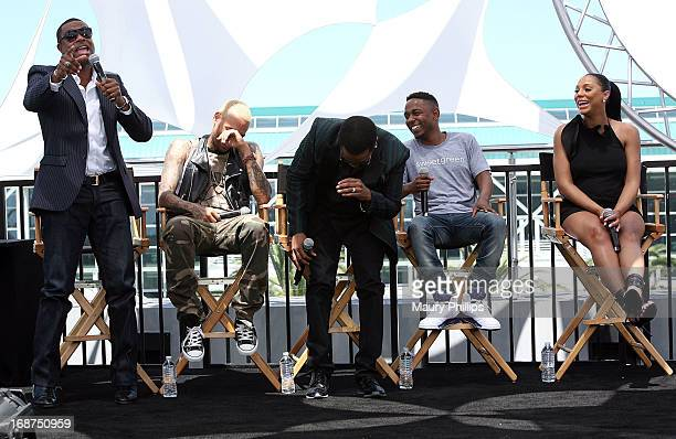 Chris Tucker Chris Brown Charlie Wilson Kendrick Lamar and Tamar Braxton attend the BET Awards 2013 Press Conference at Icon Ultra Lounge on May 14...