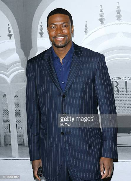 Chris Tucker during Giorgio Armani Celebrates 2007 Oscars with Exclusive Prive Show at Green Acres Estates in Beverly Hills California United States