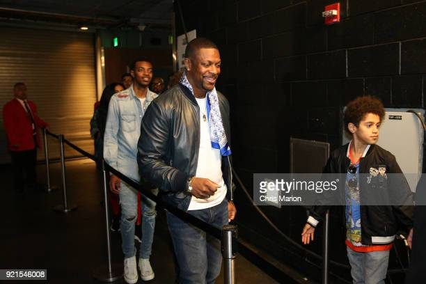 Chris Tucker is seen during the NBA AllStar Game as a part of 2018 NBA AllStar Weekend at STAPLES Center on February 18 2018 in Los Angeles...