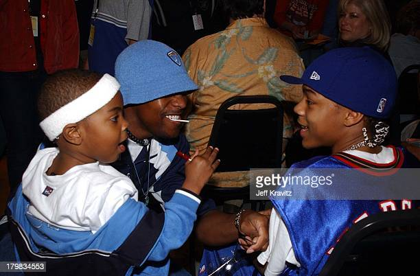 Chris Tucker Lil Bow Wow during Kid's Choice Show in Santa Monica California United States
