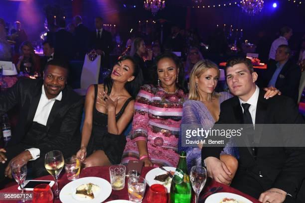 Chris Tucker, Nicole Scherzinger, Isabel dos Santos, Paris Hilton and Chris Zylka attends the de Grisogono party during the 71st annual Cannes Film...