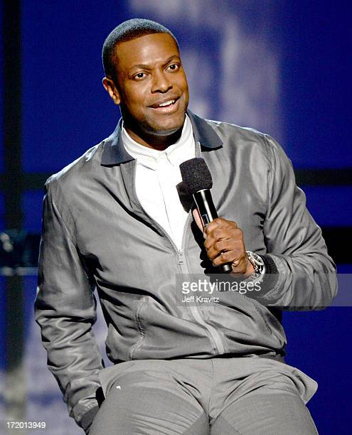 Chris Tucker onstage during the 2013 BET Awards at Nokia Theatre LA Live on June 30 2013 in Los Angeles California