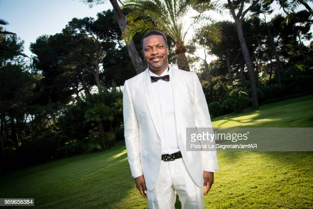 Chris Tucker poses for portraits at the amfAR Gala Cannes 2018 cocktail at Hotel du CapEdenRoc on May 17 2018 in Cap d'Antibes France