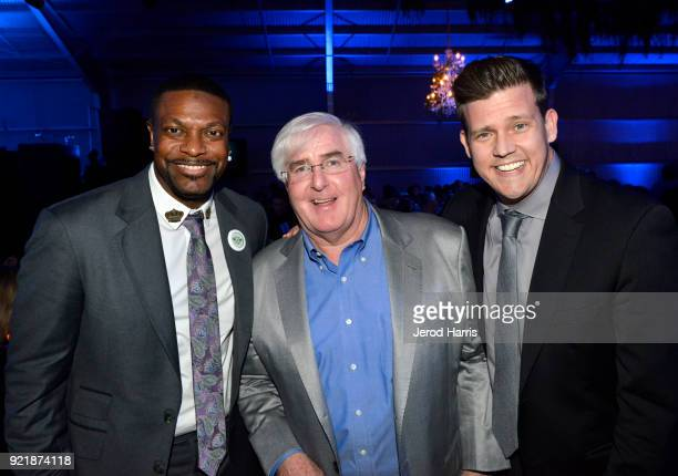 Chris Tucker, Ron Conway, and Zack Krone at will.i.am's i.am.angel Foundation TRANS4M 2018 Gala, Honoring Sean Parker, Chairman, Parker Institute for...
