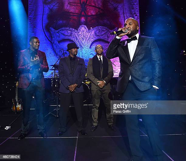 Chris Tucker Will Packer Ludacris and Young Jeezy onstage at 31st Annual UNCF Mayor's Masked Ball at Marriott Marquis Hotel on December 20 2014 in...