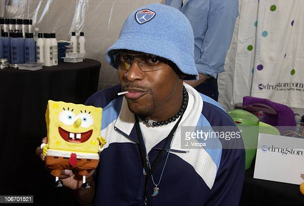 Chris Tucker with Sponge Bob Square Pants during Nickelodeon's 15th Annual Kids Choice Awards Backstage Creations Talent Retreat Day 2 at Barker...