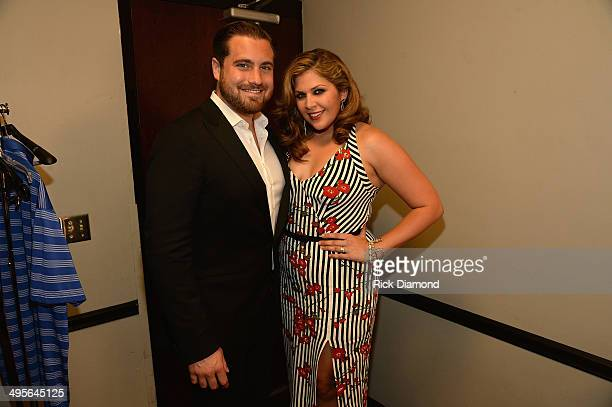 Chris Tyrrell and Hillary Scott attend the 2014 CMT Music Awards at Bridgestone Arena on June 4 2014 in Nashville Tennessee
