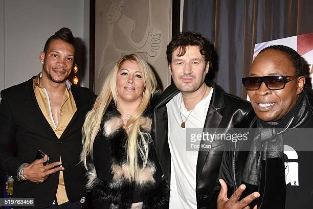 Chris V Loana Petrucciani singers Jean Pierre DanelÊand Billy Obam attend 'Guitar Tribute' by Golden disc awarded Jean Pierre Danel at Hotel Burgundy...