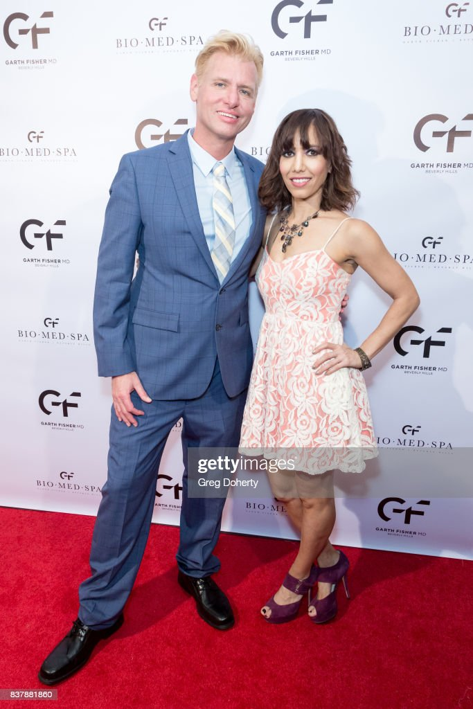 Chris Valentine and Jessica Ross attend the Official Launch Party Of Dr. Garth Fisher's BioMed Spa at Garth Fisher MD on August 22, 2017 in Beverly Hills, California.