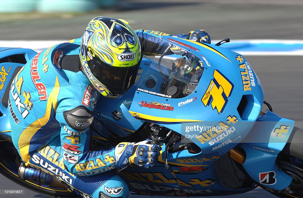 Chris Vermeulen (AUS) during training for the 2006 Estoril Moto GP in Estoril, Portugal on October 14, 2006.