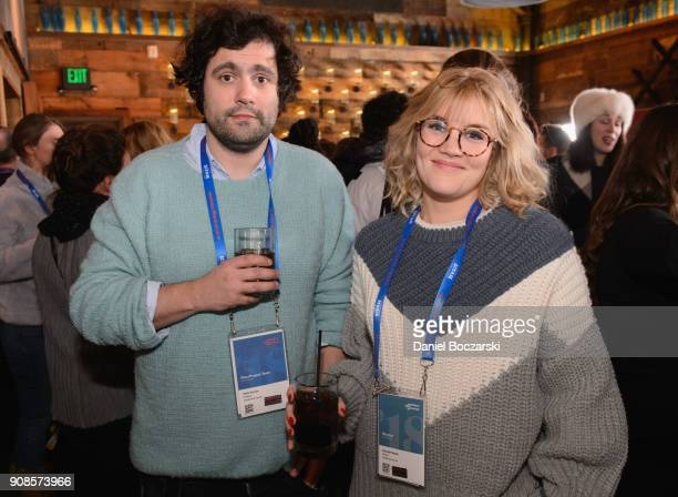 Chris Vernon and Emerald Fennell attend Brunch with the Brits during the 2018 Sundance Film Festival on January 21 2018 in Park City Utah