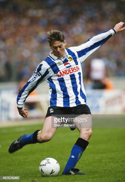 Chris Waddle of Sheff Wed in action during the FA Cup semi final between Sheffield Wednesday and Sheffield United at Wembley stadium on April 3 1993...