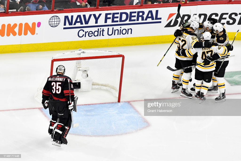 Boston Bruins v Carolina Hurricanes - Game Three : News Photo