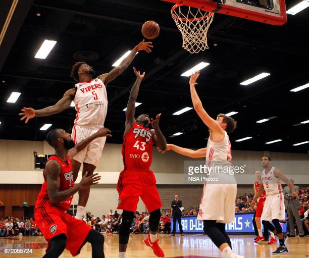 Chris Walker of the Rio Grande Valley Vipers blocks the shot of Pascal Siakam of the Raptors 905 during the first game of the NBA DLeague Finals at...