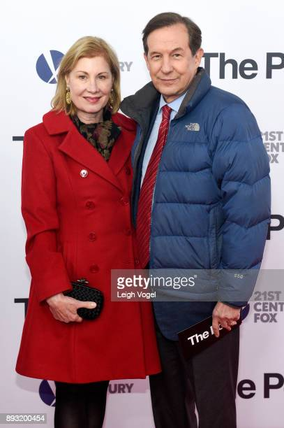Chris Wallace and Lorraine Martin Smothers arrive at The Post Washington DC premiere at The Newseum on December 14 2017 in Washington DC