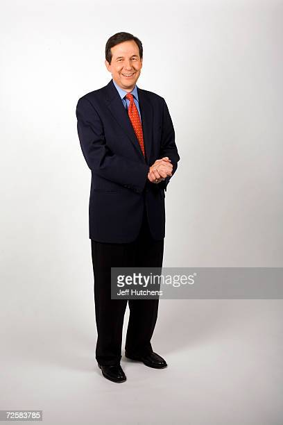 Chris Wallace host of FOX News Sunday FOX news sunday morning public affairs program poses for a portrait at the his office on September 28 2006 in...
