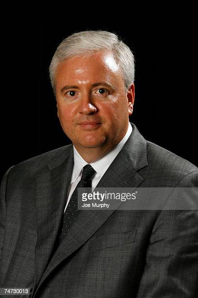 Chris Wallace poses for a portrait after a press conference naming him General Manager of the Memphis Grizzlies on June 18 2007 at FedExForum in...