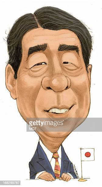 Chris Ware caricature of Japanese Prime Minister Shinzo Abe