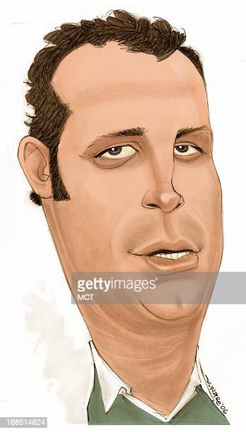 Chris Ware color caricature of actor Vince Vaughn