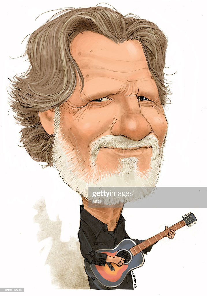 CARICATURE: Kris Kristofferson : News Photo
