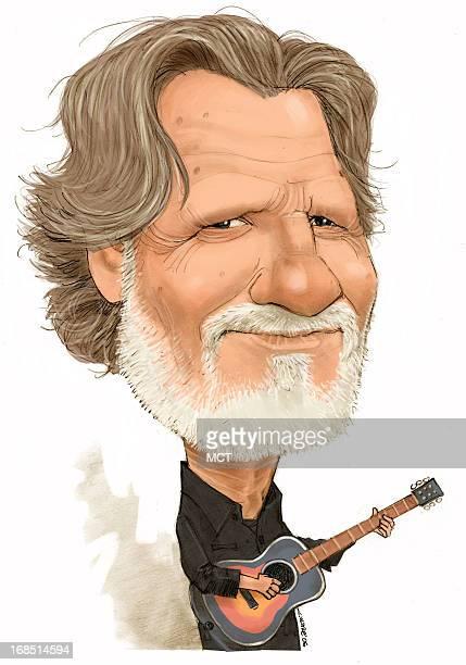 Chris Ware color caricature of actorsingersongwriter Kris Kristofferson