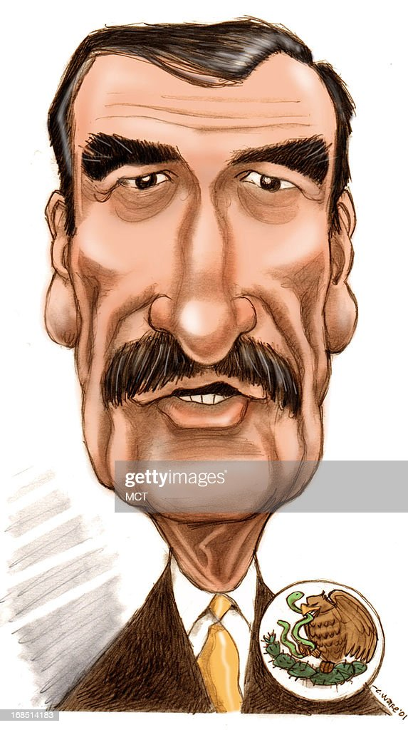CARICATURE: Vicente Fox : News Photo