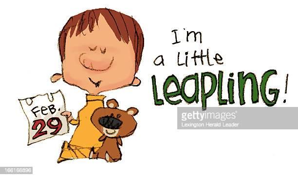 Chris Ware illustration of child born on Leap Day Feb 29