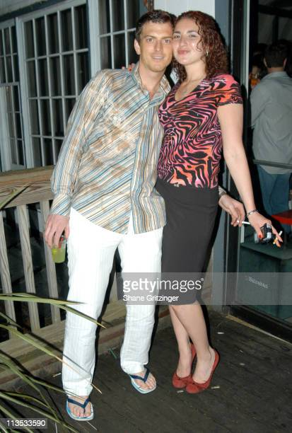 Chris Warnke and Kristine B. During The Star Rooms 2005 Memorial Day Party with Special Guest DJ AM at Star Room in East Hampton, New York, United...